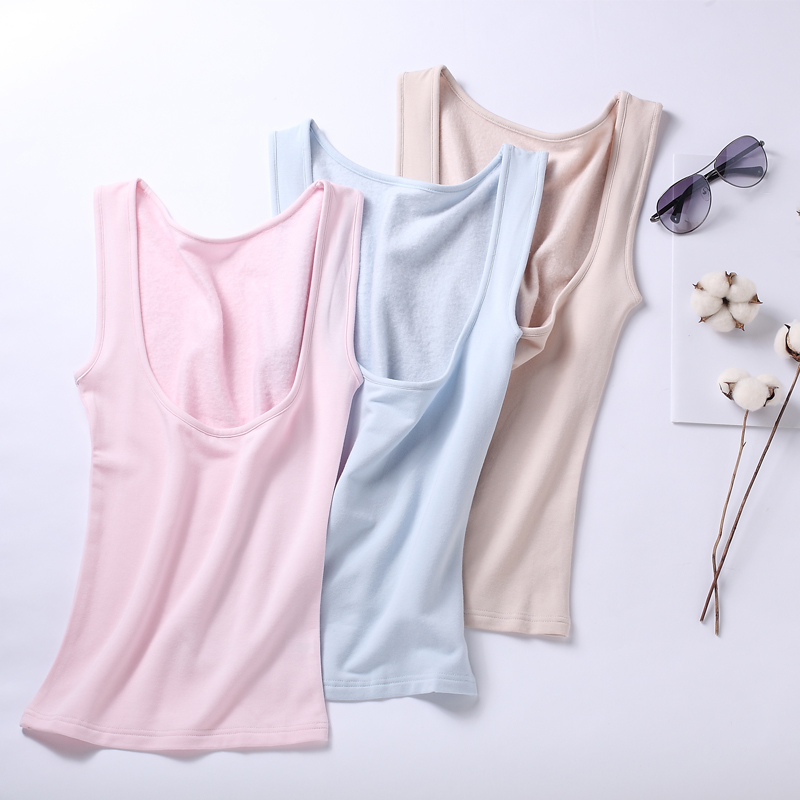 100% Natural silk camisole line silk with bottom condole belt vest female summer lapel with chest pure color inside match
