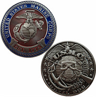 USMC DEVIL DOGS United States Marine Corps Challenge Coin, EST.1775 Round metal coins, DHL free shipping, New Style high quality