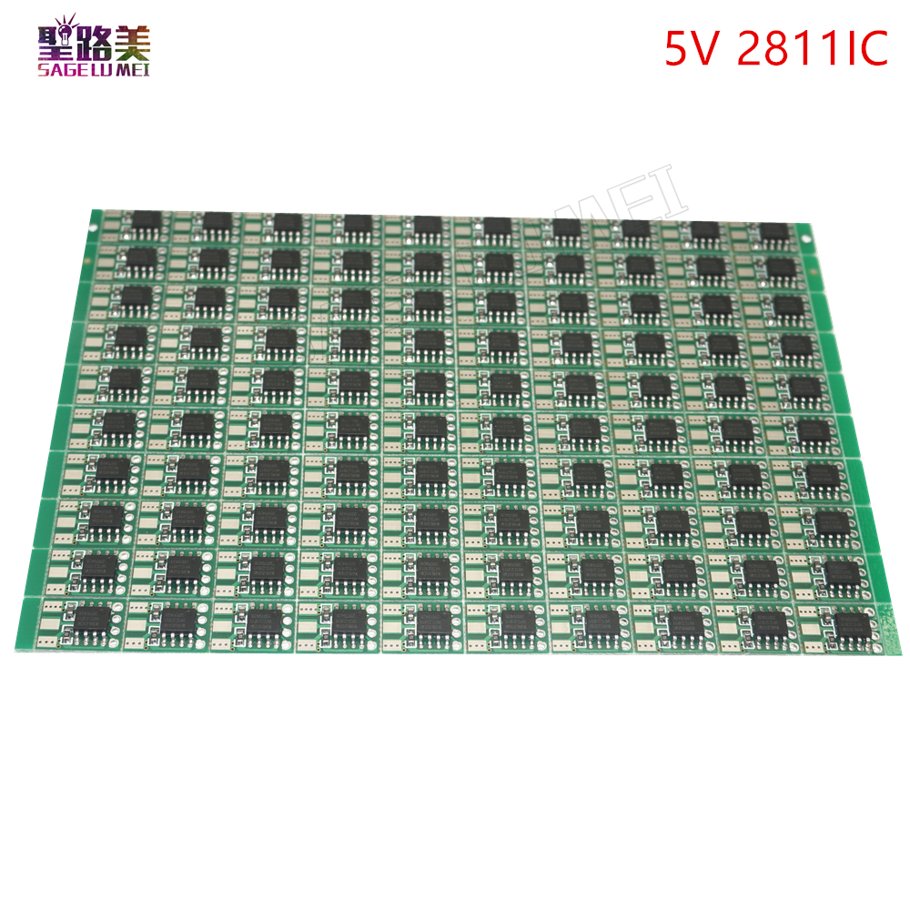 Free shipping 100pcs DC5V DC 12V WS2811 Circuit Board PCB Square Making WS2811 LED Pixel Module IC Chip Light Lighting tape 100pcs lot mic5235bm5 mic5235 sot23 5 making l2aa free shipping new ic page 8