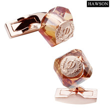 Luxury D Letter Cufflinks Rose Gold Color Plated Cuff link Mens French Cuff Shirts