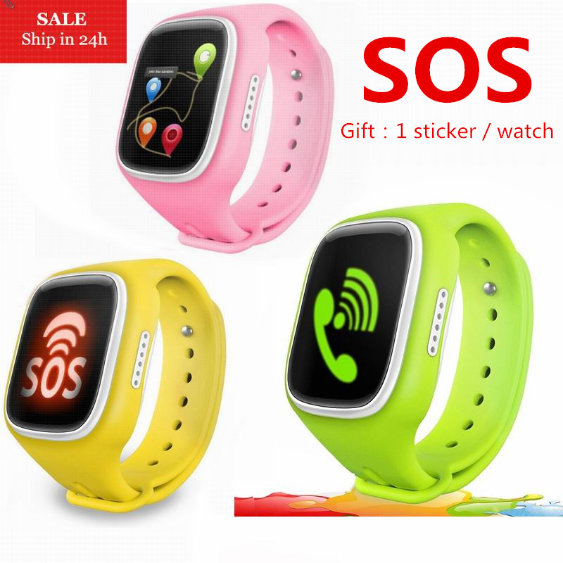 SOS WiFi GPS Location Smart Watch Baby Wristwatch Call Finder Locator Tracker Anti Lost  ...