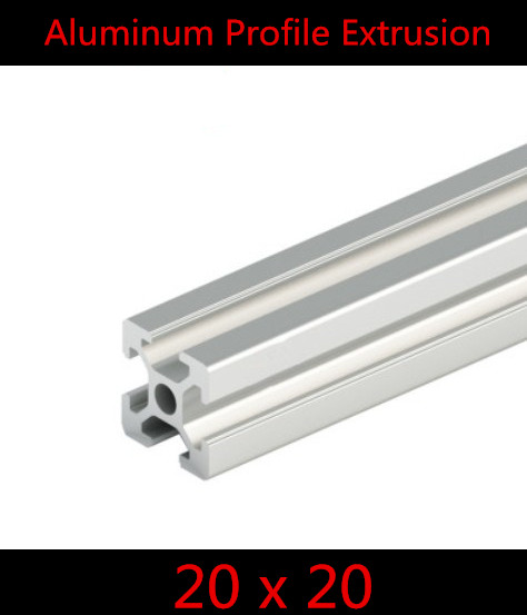 2020  Aluminum Profile Extrusion 20 Series, Aluminum Tube Length 1 Meter