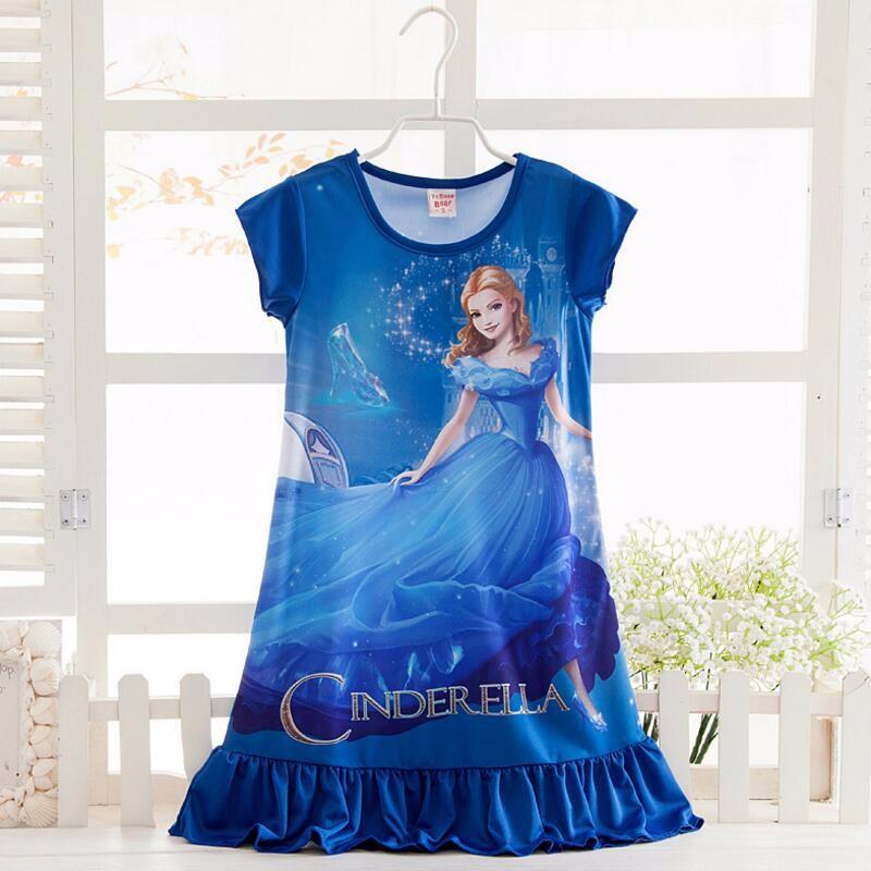 Anna Elsa Girls Dress Snow Queen Princess Dresses for Girls Night Gown Pajamas Baby Dress Kids Sleepwear Pyjamas Clothes 15