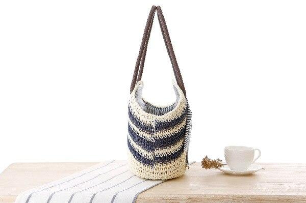 Uoct.All 2018 New Summer Style Beach Handbags Striped Large Bow ... ac22a8b0eda00