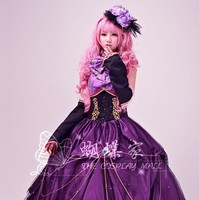 Vocaloid Luka Miku Costumes Cosplay Princess Dress For Women Sexy Gothic Dress Kawaii Dress Wig Cosplay