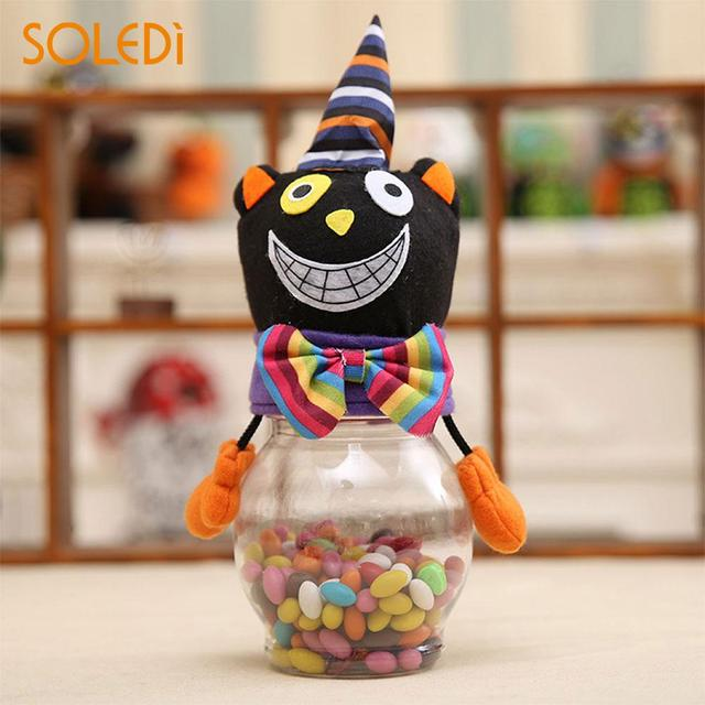 halloween candy jar halloween candy bottle novelty ghost pumpkins plastic desktop chidren party decor gift