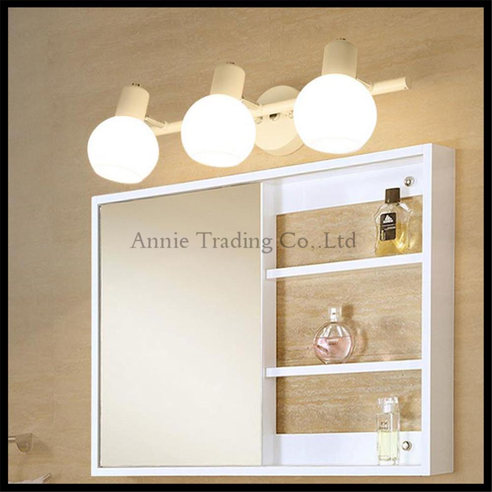 estilo americano blanco gabinete luz delantera espejo moderno cuarto de bao wc maquillaje espejo lmpara del