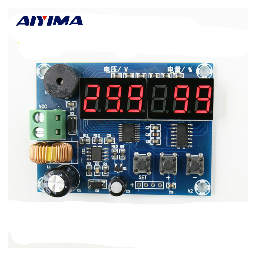 Aiyima DC Voltage Power Battery Display Module Voltage + Residual Persent Displays Remaining Charge DC7-80V