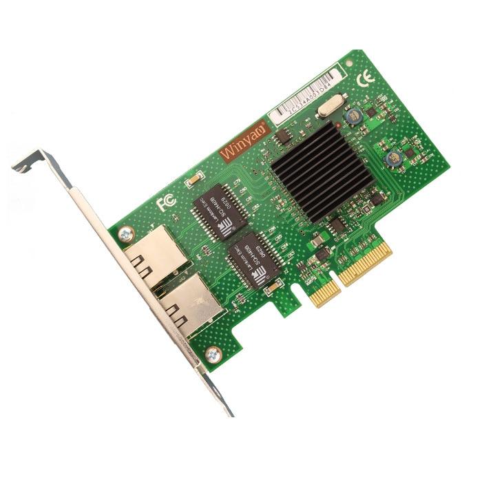 Winyao WY576T Dual Port Copper Gigabit 1000Mbps Ethernet PCI-E Server  Adapter W/ Intel 82576 Chipset E1G42ET  ROS Diskless ESXI
