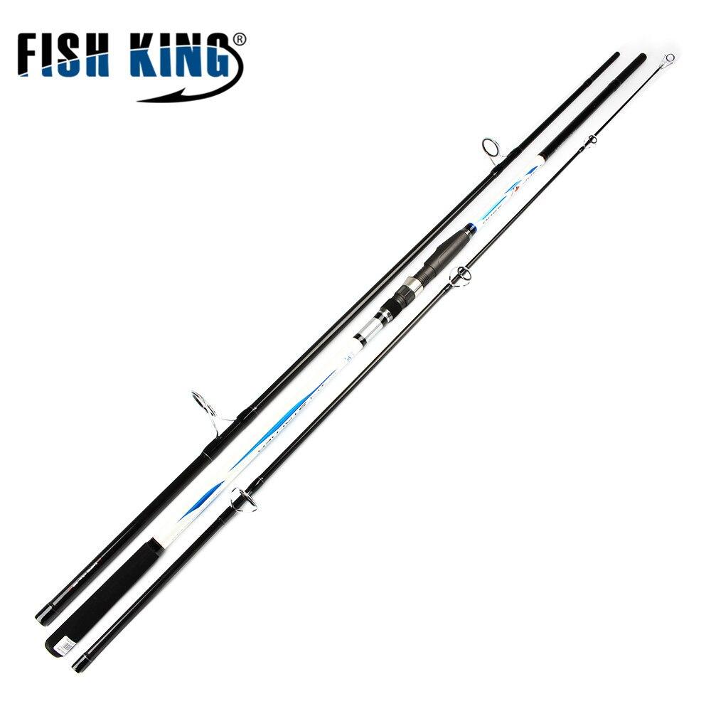 FISH KING 100% High Carbon  CW 4.0LBS 3 Sec Standard 3.6m 3.9m  Contraction length 125cm 136cm Surf Carp Rod Peche Pesca Tackle mikado sakana hanta carp 390 3 00 lbs 3 секц