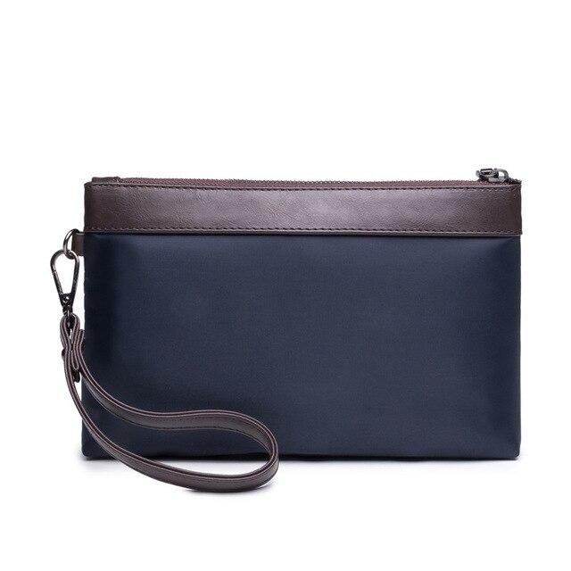 Для мужчин Удобные Нейлон маленький клатч джентльмен сумки мешок хранения  Мужской Конверт кошелек Посланник мешок мобильного 2199e76cad0