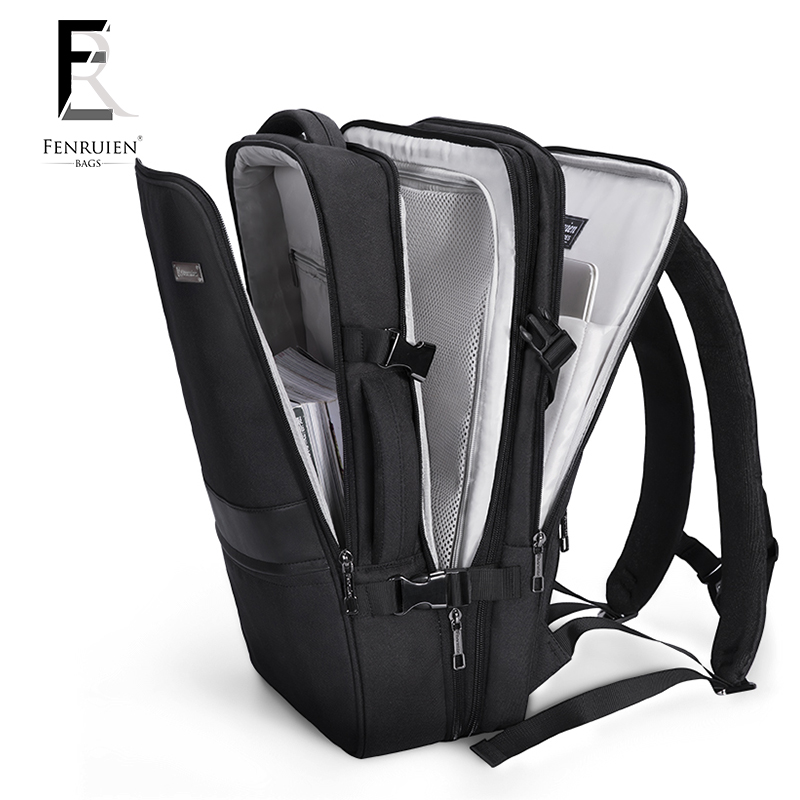 FENRUIEN New 17 inch Laptop Backpack Men Business Waterproof Backpack USB Charging Large Bag 15