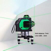 Профессиональный 12 линий 3D лазерный уровень самонивелирующийся 360 горизонтальный и вертикальный крест супер мощный красный лазерный луч л