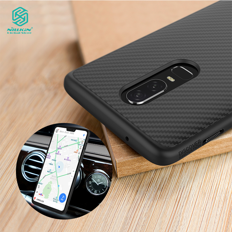 Nillkin Synthetische Faser abdeckung für OnePlus 6 fall Luxus telefon shell Zurück Abdeckung für OnePlus 6 t