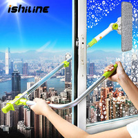 Telescopic High rise Window Cleaning Brush Glass Window Cleaner Brush For Washing Window Dust Brush Household Cleaning Tools