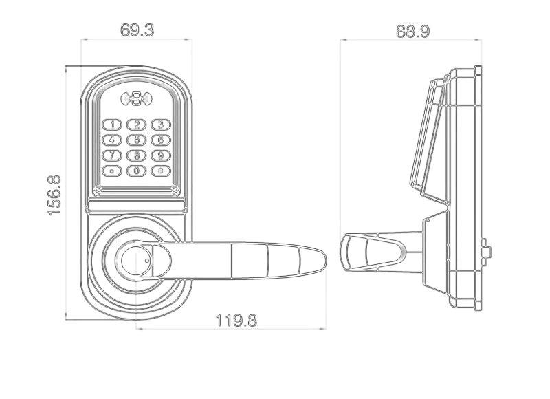 Купить с кэшбэком Bluetooth Electronic Door Lock APP Control, Password, Mechanical Key Keypad Digital Code Lock Smart Phone lk200AP