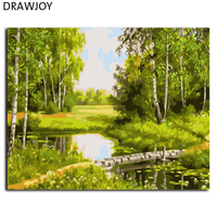 Landscape Frameless Pictures Painting By Numbers DIY Canvas Oil Painitng Home Decor For Living Room GX7308