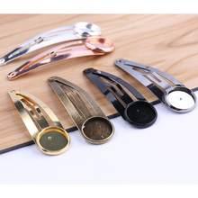 Onwear 20 pçs ajuste 12mm cabochon hairpin grampos de cabelo base configuração diy moldura em branco para grampo de cabelo jóias fazendo acessórios