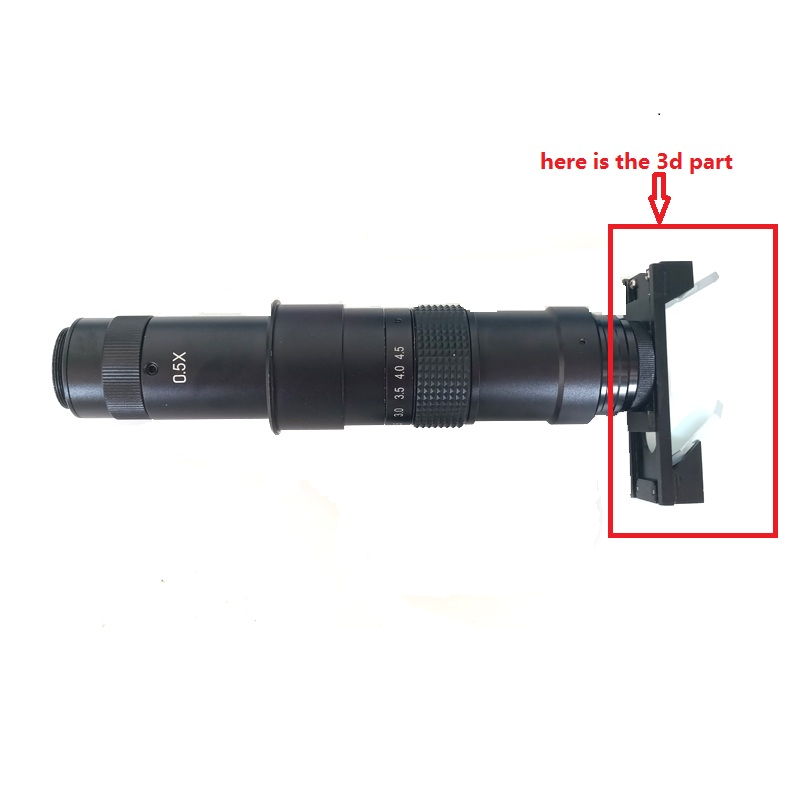 Magnification zoom C-mount lens 3D parts attachment for industrial microscope smartphone repair