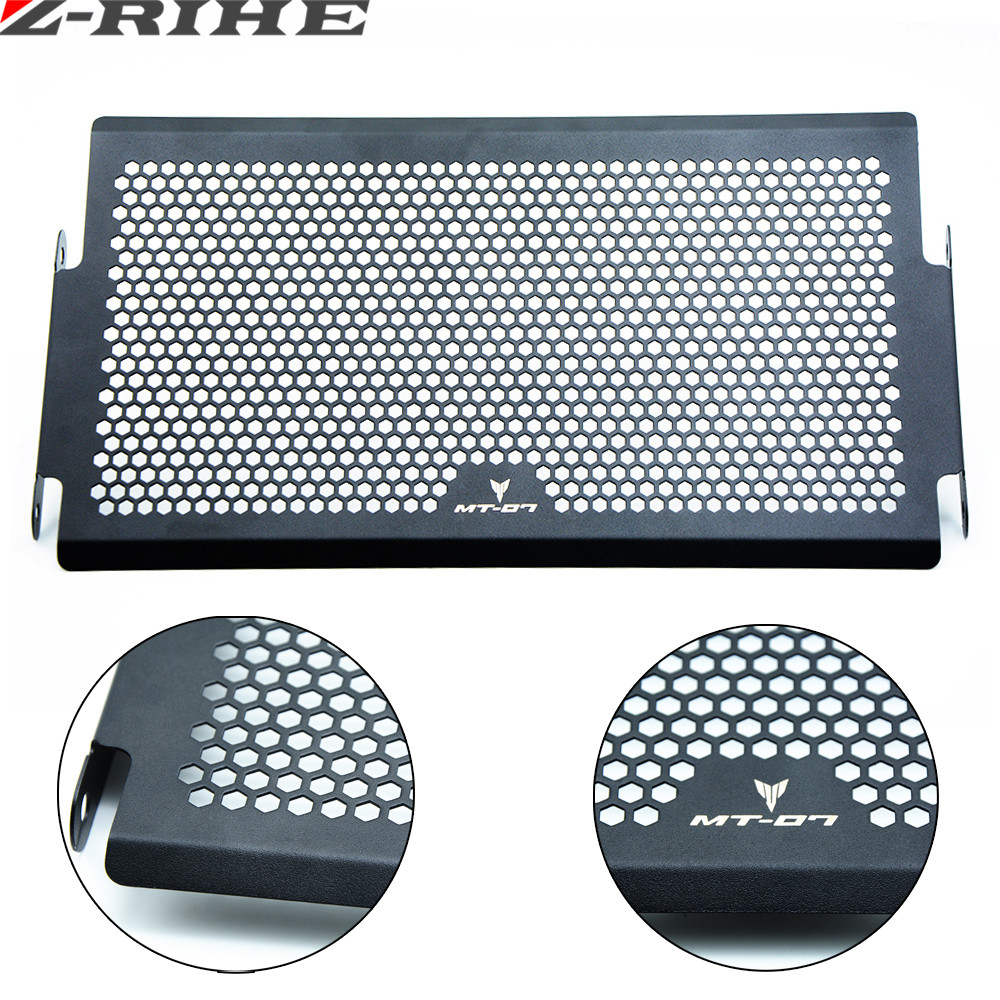 for MT07 logo Motorcycle Radiator Cover Bezel Grille Guard Protector Aluminum for Yamaha MT07 MT-07 FZ07 FZ-07 FJ 2014 2015 2016 for yamaha mt 07 mt 07 fz07 mt07 2014 2015 2016 accessories coolant recovery tank shielding cover high quality cnc aluminum