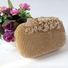 Уникальные золотые стразы, вечерняя сумочка, клатч, кошелек, вечерние, для невесты, выпускного вечера