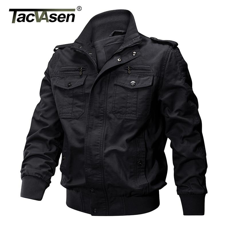 TACVASEN Men Winter Military Jacket Cotton Bomber Jacket Coat Navy ... 8393c94ac5d