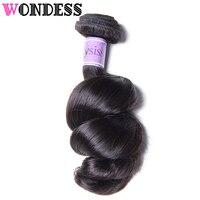 Wondess Hair Loose Wave Hair Brazilian Virgin Hair 1 Bundle 16 26inch Raw Human Hair Loose Wave Bundles Can Buy 3 or 4 PCS