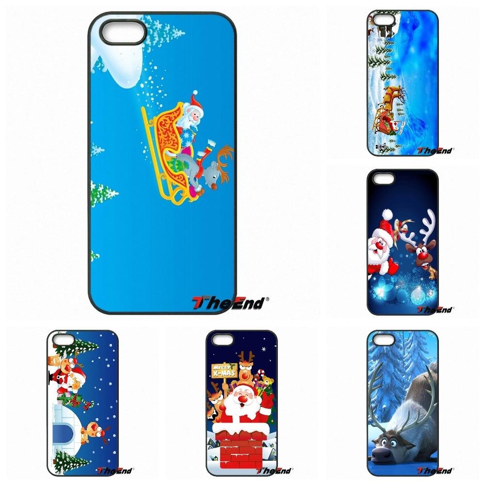 Retail Cute Cartoon Christmas Animal Elk Phone Case For Xiaomi Redmi Note 2 3 3S 4 Pro Mi4 Mi4C Mi5S Mi MAX iPod Touch 4 5 6