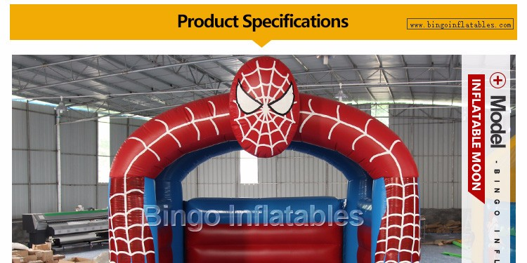 Outdoor Inflatable Spider Man Moonwalk Trampoline Bouncer-inflatable spider bouncerinflatable spider bouncer castle portable (1)