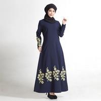 Fashion Malay Indonesian Muslim Dresses Floral Printed Islam Arab Women Dress Loose Women Clothing