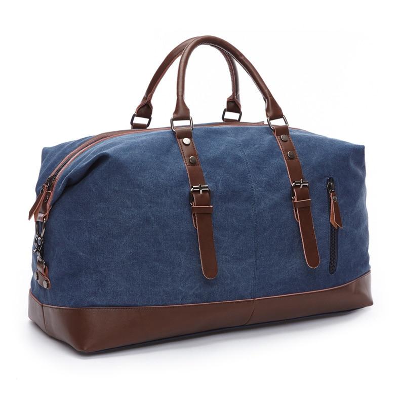 Moda Canvas Koža Muškarci Putna torba Veliki Kapacitet Muškarci - Torbe za prtljagu i putovanje - Foto 4
