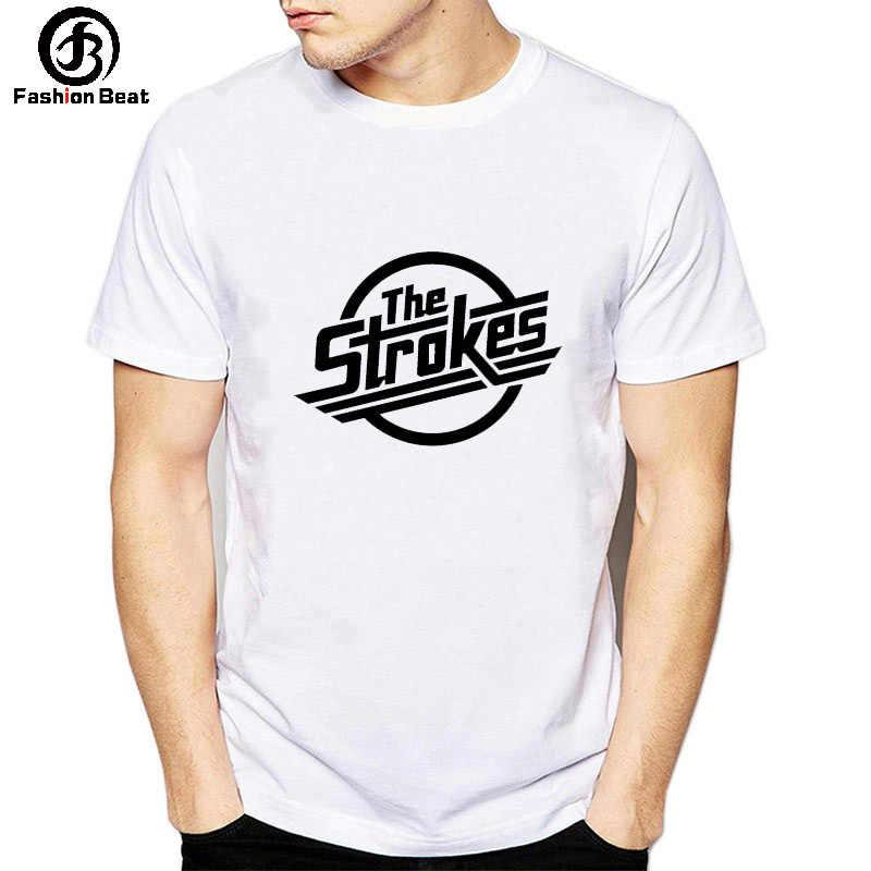 388dedc869c9 The Strokes America Band T-shirt Britpop Music T Shirt Men Women White  Tshirt Modal