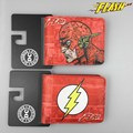 Dc comics liga de la justicia superhéroe the flash anime corto carteras con titular de la tarjeta y de la foto carpeta de la historieta