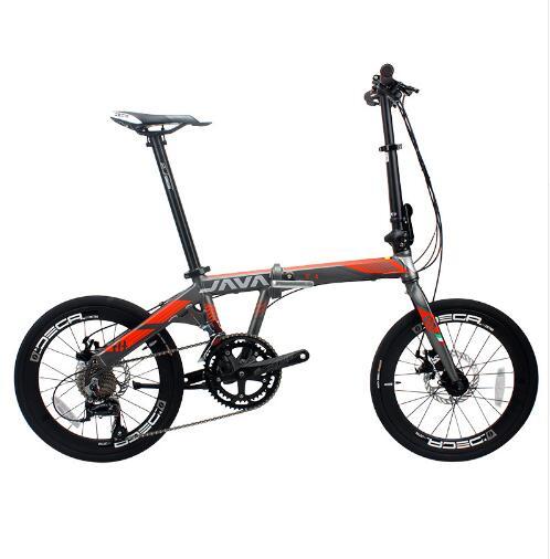 折りたたみアルミ合金バイク 20 インチ 18 速度ダブルディスクブレーキ大人都市高品質自転車ユニセックス  グループ上の スポーツ & エンターテイメント からの 自転車 の中 1