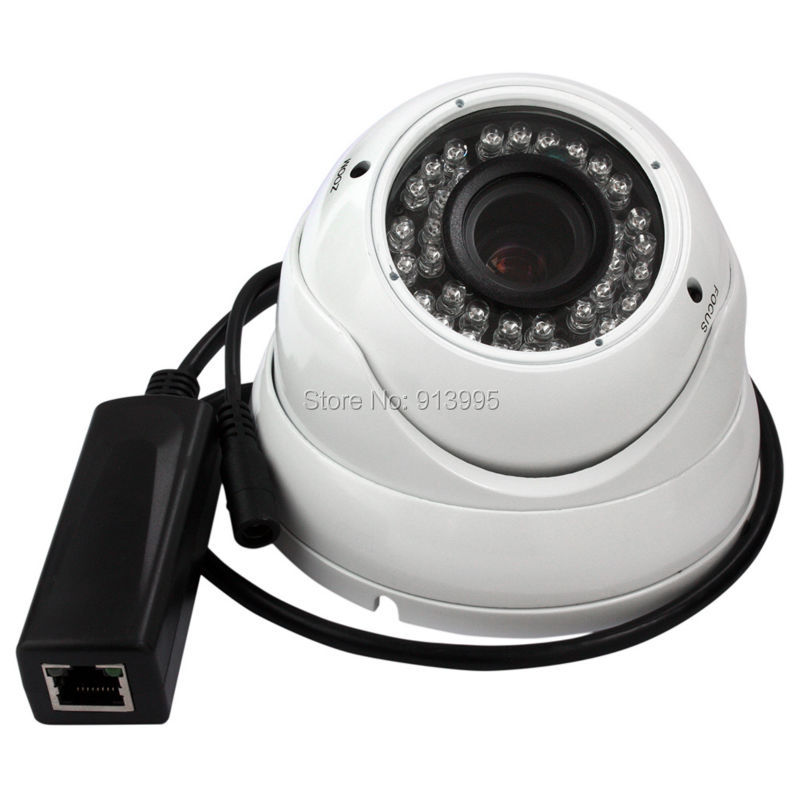 Фото New POE IP camera 2.0 MP 1080P Dome ONVIF 2.0 outdoor /indoor home CCTV network IP Camera P2P IR Cut Filter PoE Cable