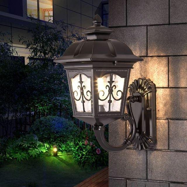 Europese en Amerikaanse outdoor wandlamp waterdicht buitenmuur villa ...