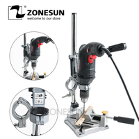 ZONESUN With fixed Electric Drill holding holder bracket Dremel Grinder rack stand clamp Grinder accessories for Woodworking