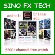 Arabe Europe afrique 1 année IPTV Compte d'abonnement 2200 Canaux pour Android TV Box M3U Enigam