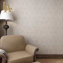 Нетканые Винтаж Геометрическая Плед Кирпич Текстурированные Обои Стены Спальни Home Decor Браун Серый 3D Wall paper Rolls W346