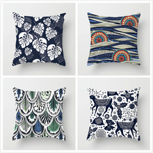 Fuwatacchi  Flower Abstract Pattern Pillow Cover Animal Geometric Printed Cushion Cover Home Sofa Chair Decorative Pillowcase цена и фото