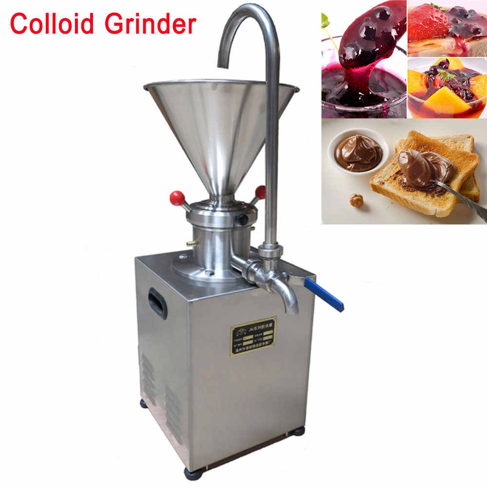 4.1L Hopper Electric Stainless steel Peanut Nut Butter Grinder Sauce Pressing Machine Tomato Butter Maker Colloid Mill 1500Watt