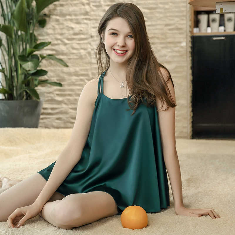 Зеленый, синий, розовый, сексуальная майка и шорты, пижамный комплект 2018, Женский комплект из двух предметов с бретельками, одежда для сна, пижама, шелковые атласные пижамы