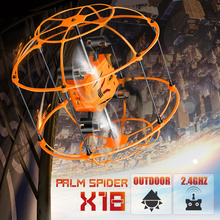 New Arrival Syma X18 2.4GHz RC Helicopter 4CH 360 Flips Drone Climbing Spider RC Quadcopter  with Net Protective Cover RTF Toys