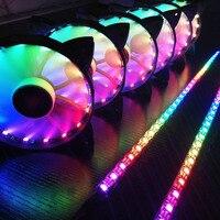 Computer Cooler Cooling Rgb Fans Computer Case Pc Koelventilator Licht Bar Ultra Stille Leds Case Fan Heatsink Cooler Cooling