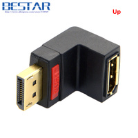 Down Angled 90 Degree DisplayPort Display Port Dp Angle Male To Dp Female Extension Adapter Converter