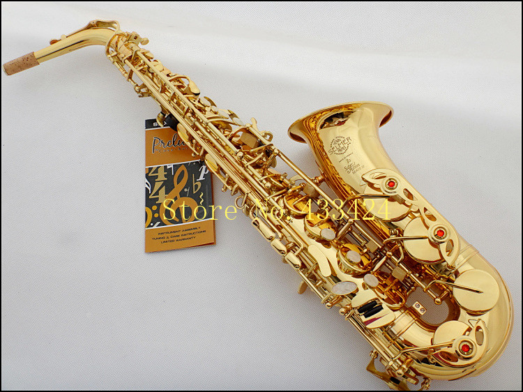 France Selmer 802 Eb Alto Saxophone Brand Professional Gold Plated Saxe Top Musical Instrument Sax With Case mouthpiece футболка lost ink curve lost ink curve lo030ewlis44