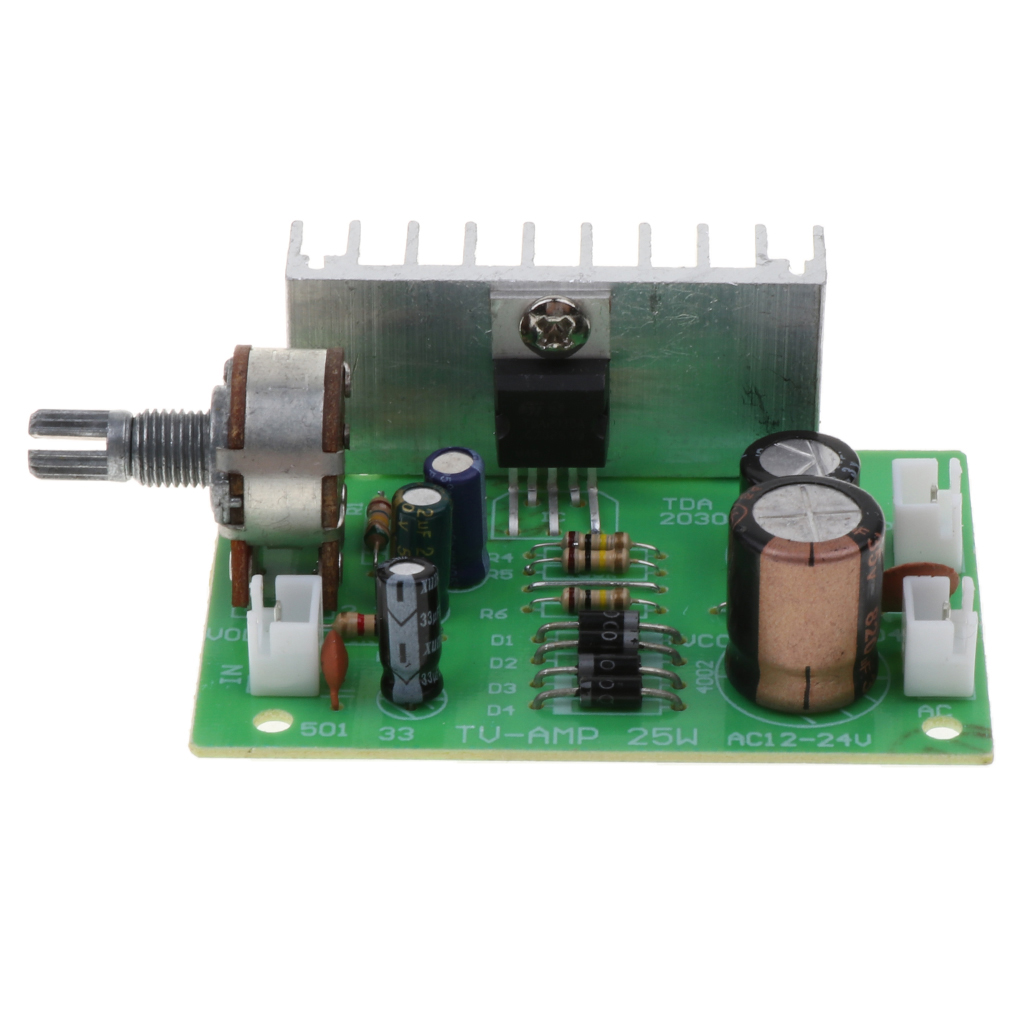TDA2030A Mono 15W Audio Power Amplifier Board AC//DC 12V Assembled