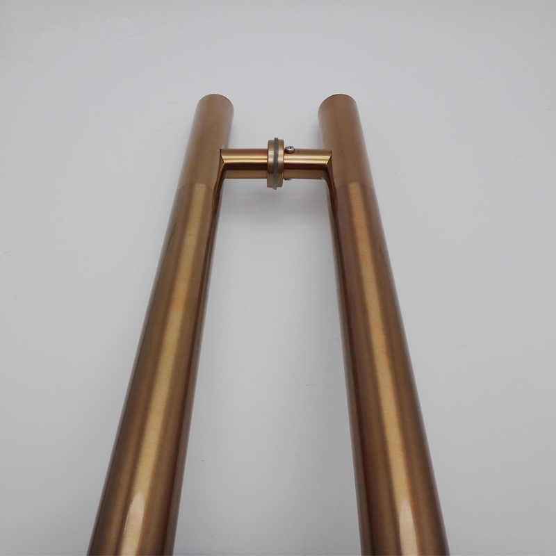 High-grade de aço Inoxidável porta de vidro punho diâmetro 38mm Escovado/Polimento do chuveiro do banheiro/apoio de Braço da porta de madeira ferragem de vidro