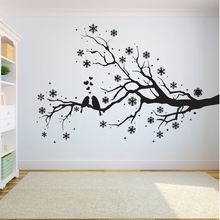 Tree Wall Decal Sticker Bedroom tree of life roots birds flying away home decor Snowflake leaves A7-008