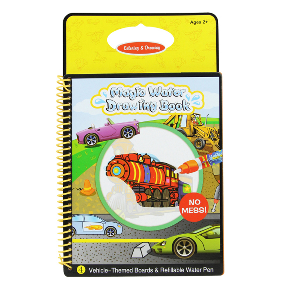 6 Colors Magic Water Drawing Book Coloring Book Doodle with Magic ...